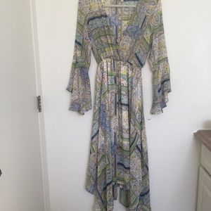 NWOT Paisley Asymmetrical Dress